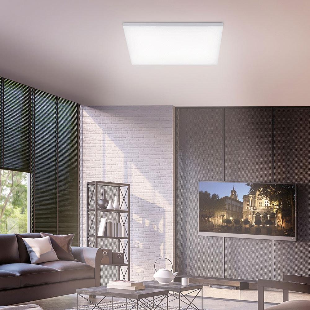 Q-Flat 2.0 rahmenlose LED Deckenlampe 62 x 62cm CCT + FB Weiß thumbnail 3