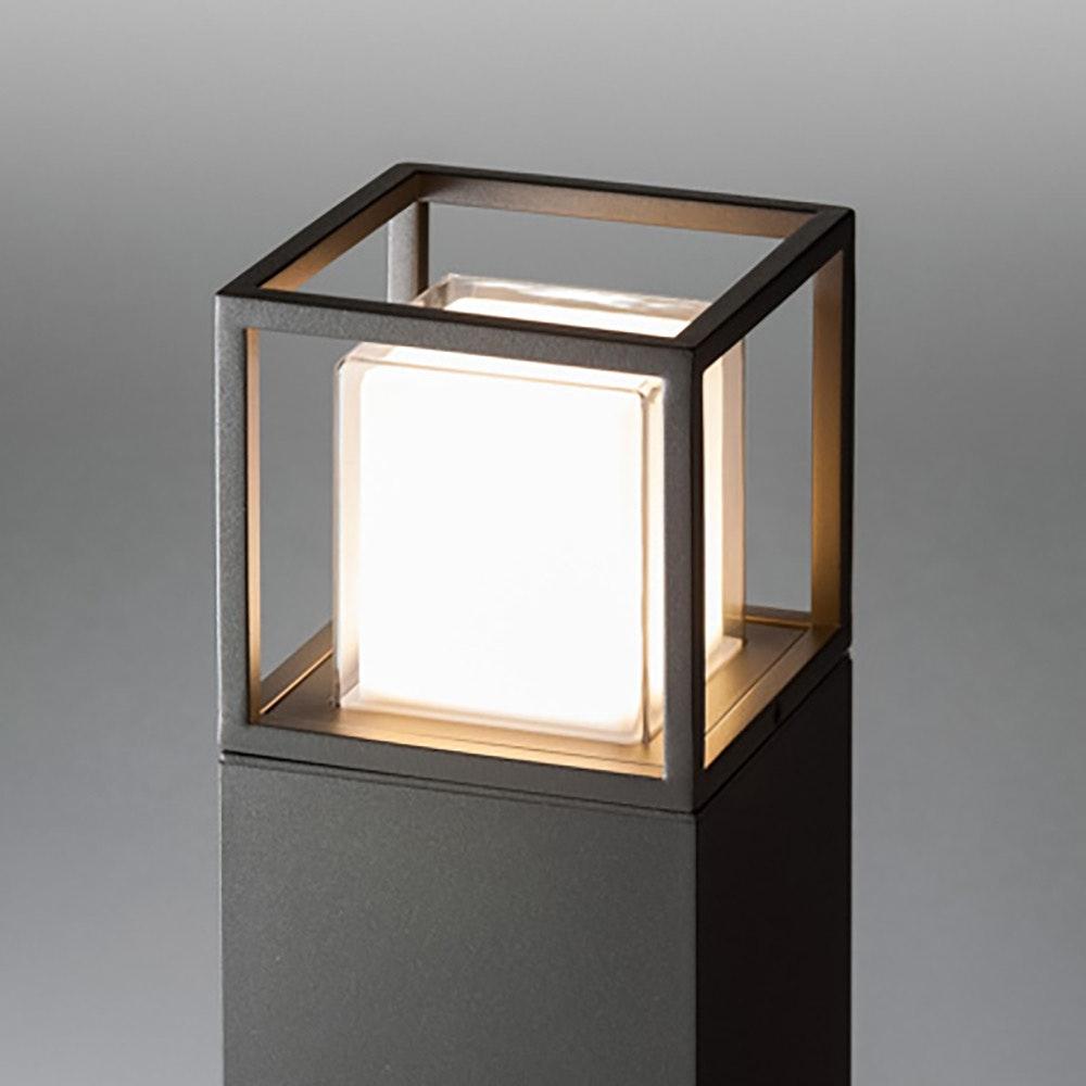 Licht-Trend LED Pollerlampe Quadro T 90cm IP54 Anthrazit thumbnail 3