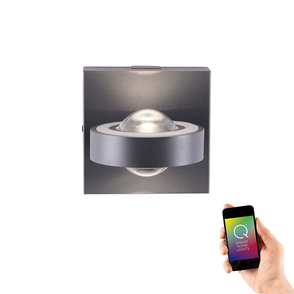 LED Wandlampe Q-Mia RGB+CCT Anthrazit 2