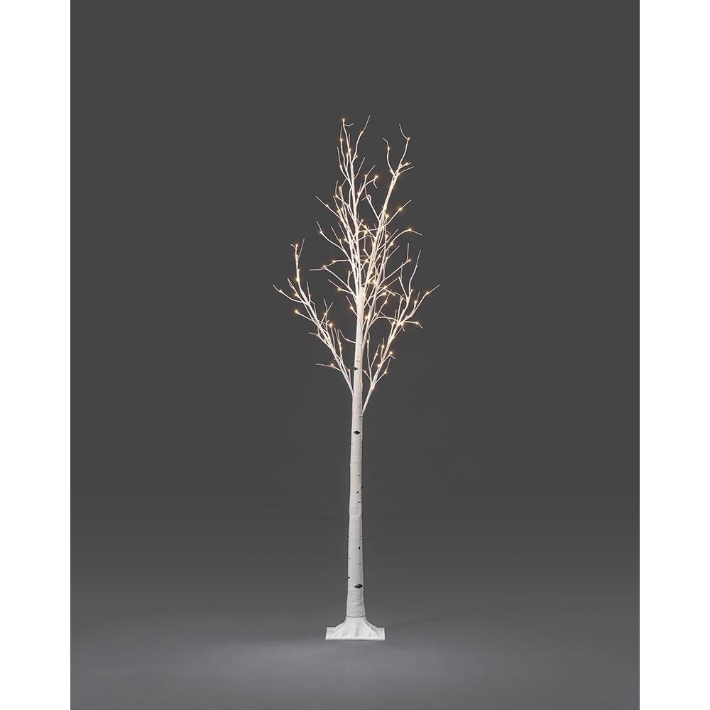 LED Birke groß weiß 120 Warmweiße Dioden 3