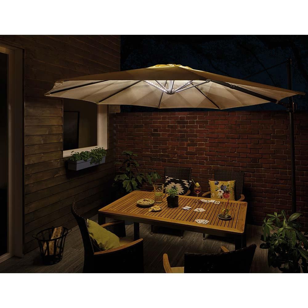 Akku LED-Strip für Sonnenschirm IP44 3000K 4x0, 4m USB 1