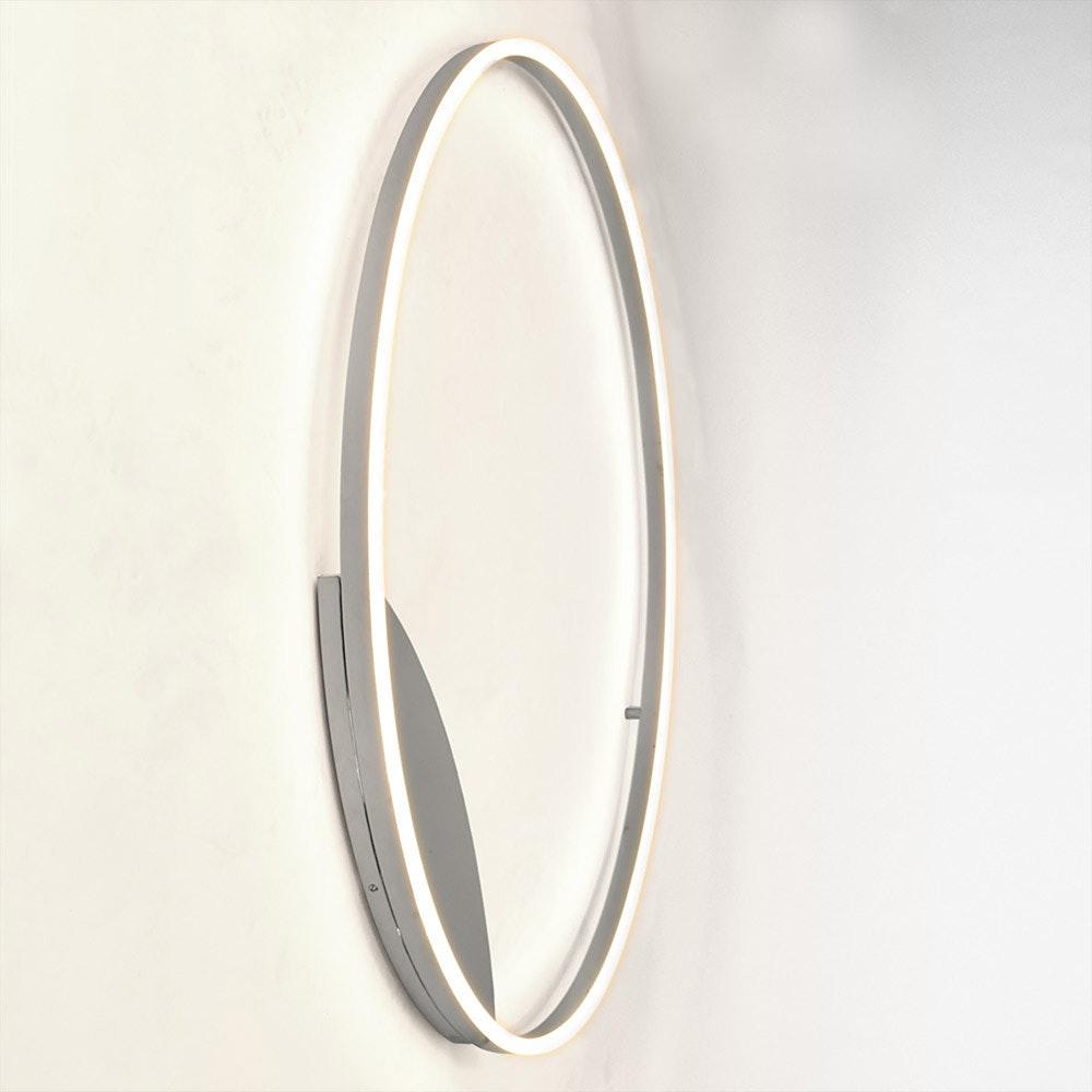s.LUCE LED Ring 100 Wand & Decke Dimmbar Chrom 7