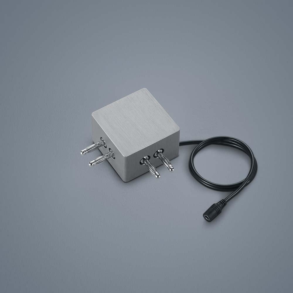 Helestra 90°-Verbinder mit Kabeleinspeisung Vigo Nickel-Matt 1