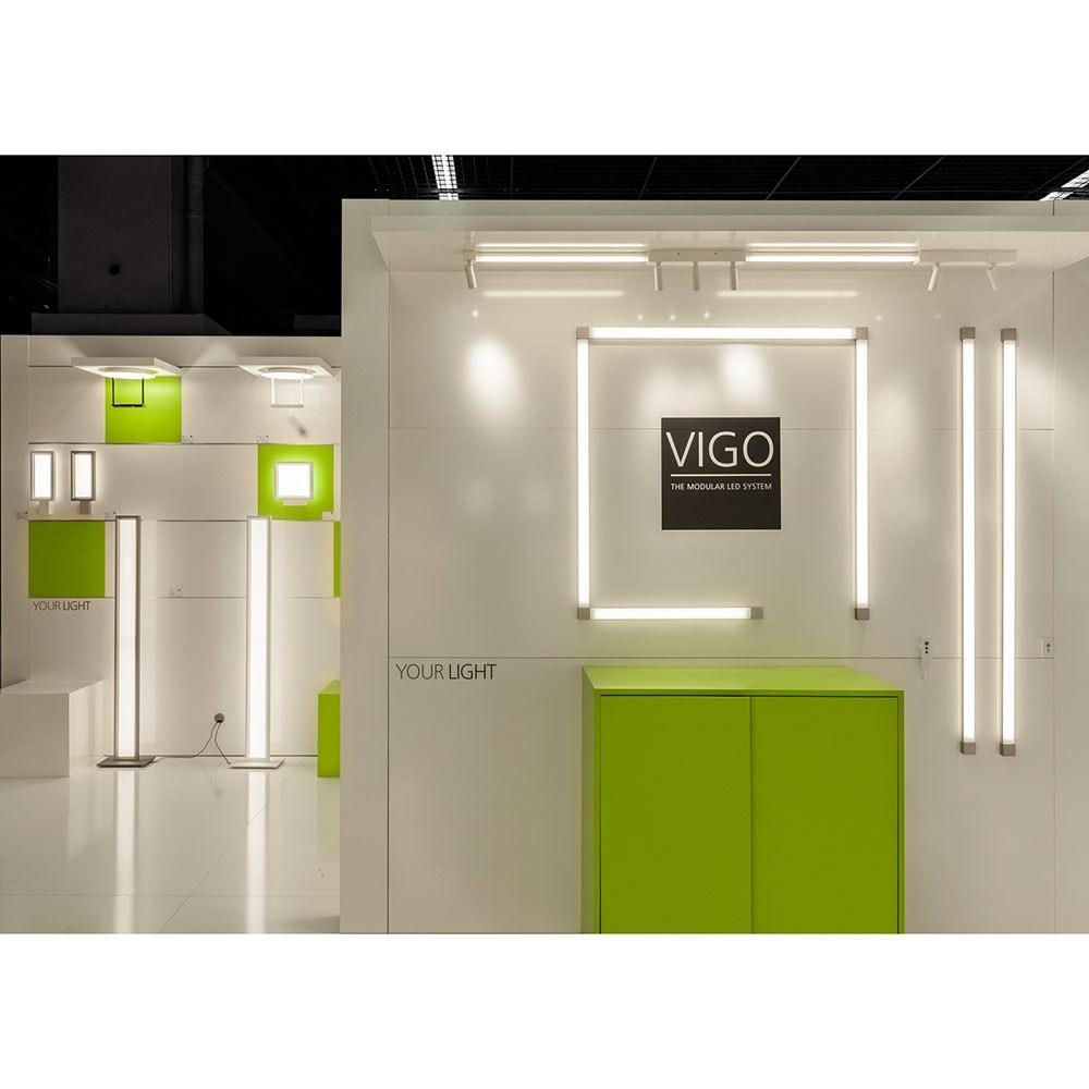 VIGO System 1er Strahlermodul und Endstück Alu-matt 5