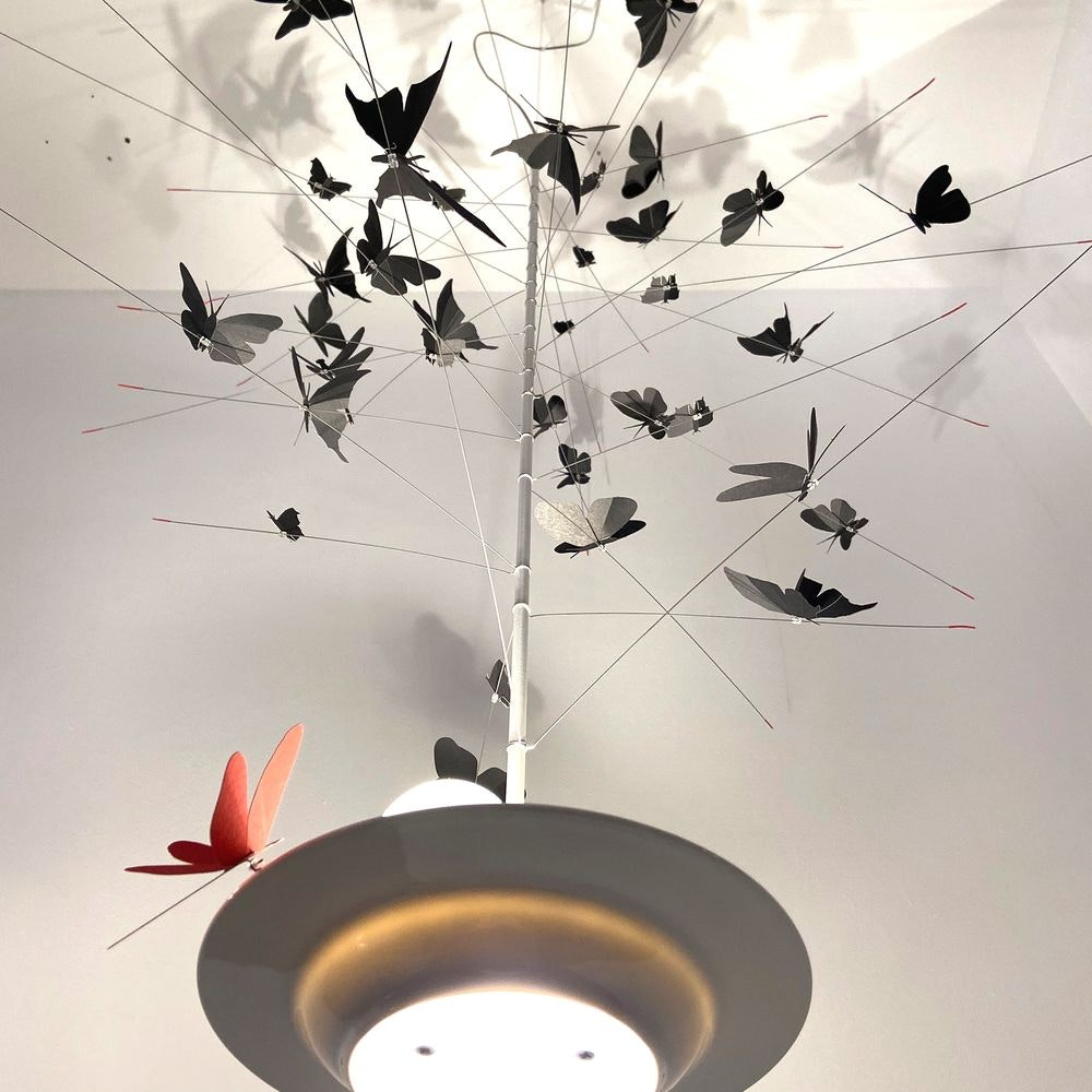 Ingo Maurer LED Pendellampe La Festa delle Farfalle weiss thumbnail 4