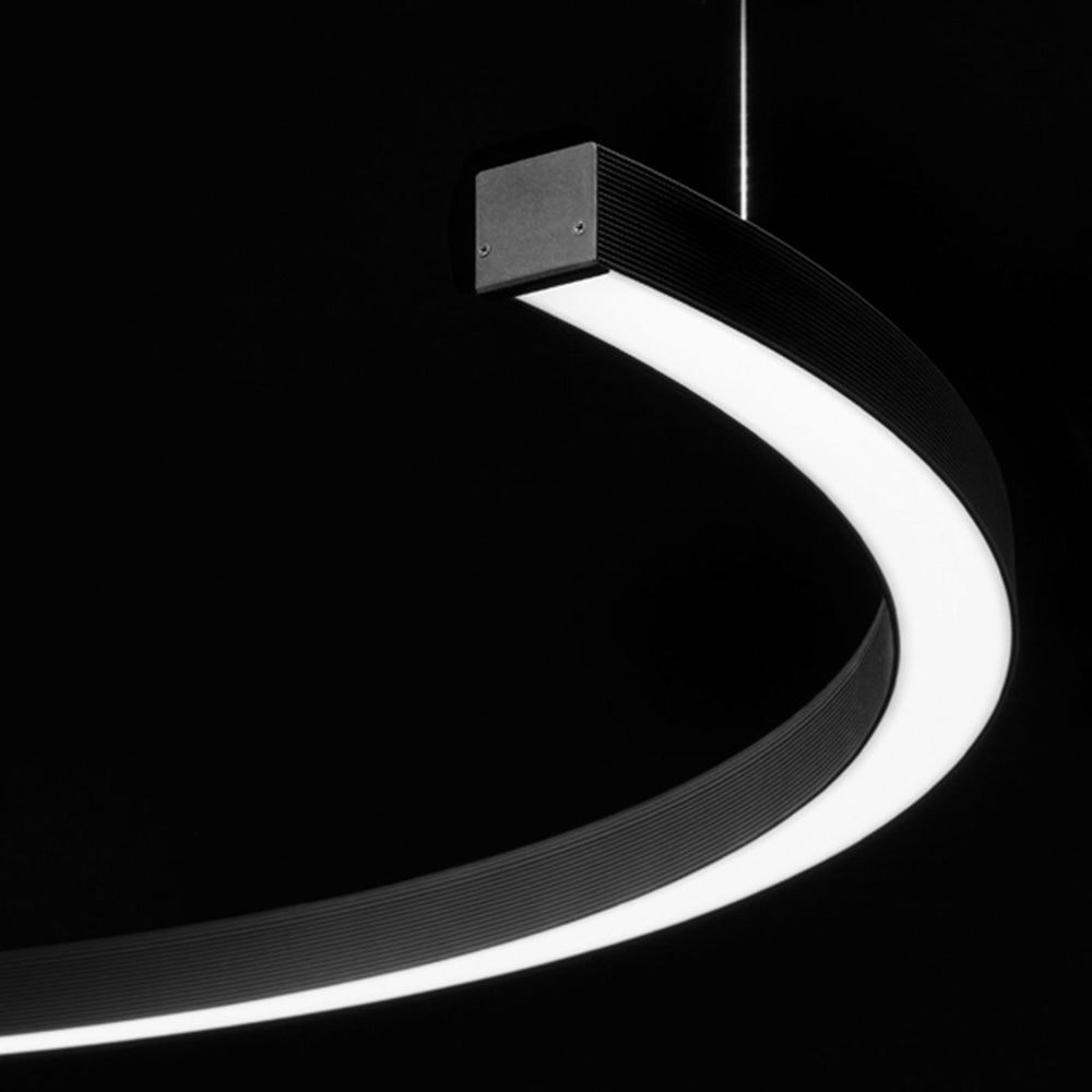 Panzeri Brooklyn Halb-Ring LED-Pendelleuchte thumbnail 4