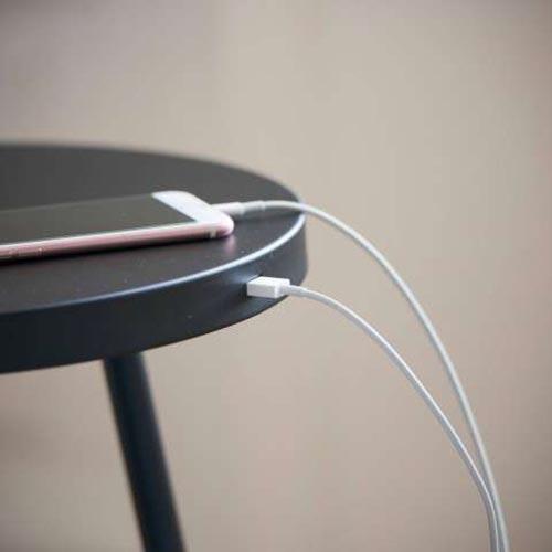 Stehleuchte mit USB Anschluss Tabulo 167cm Schwarz 4