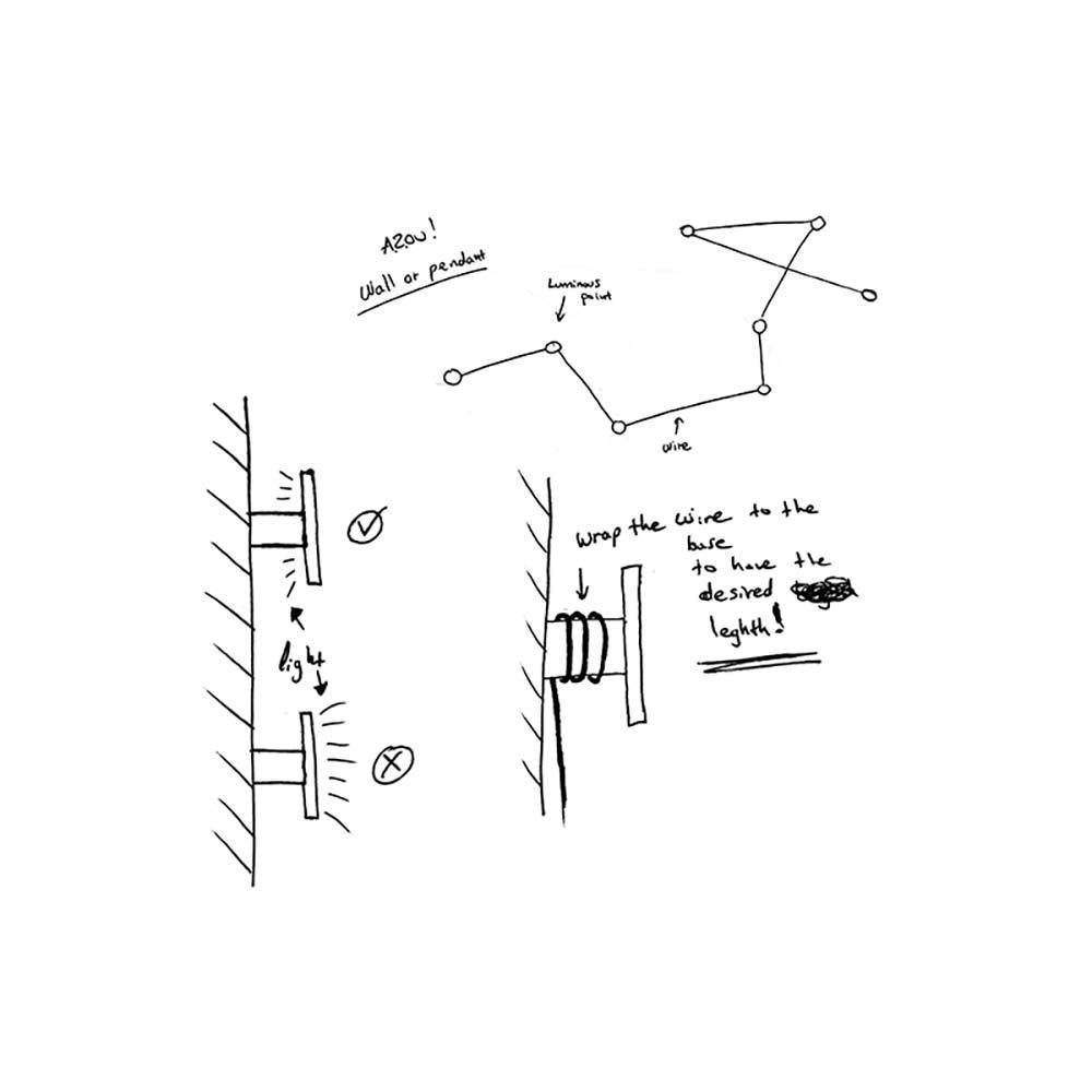 Kundalini LED-Wandleuchte Azou 3-flammig Dimmbar thumbnail 6