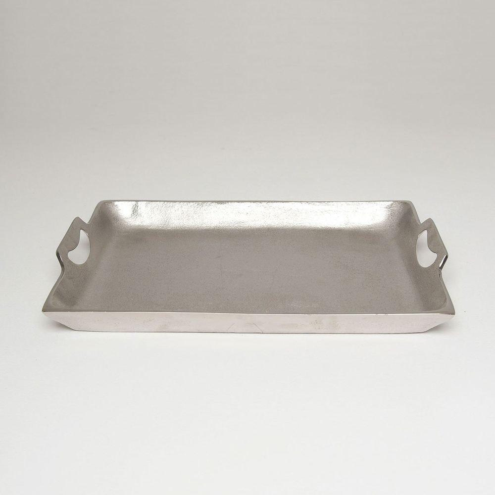 Tablett Domestica Mittel Aluminium Silber 1