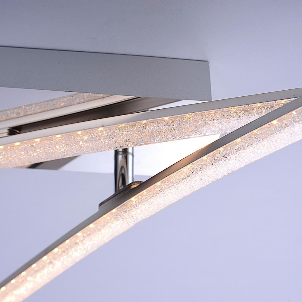 Simon LED Acryl Deckenleuchte 2x 5W 3000K Chrom 3