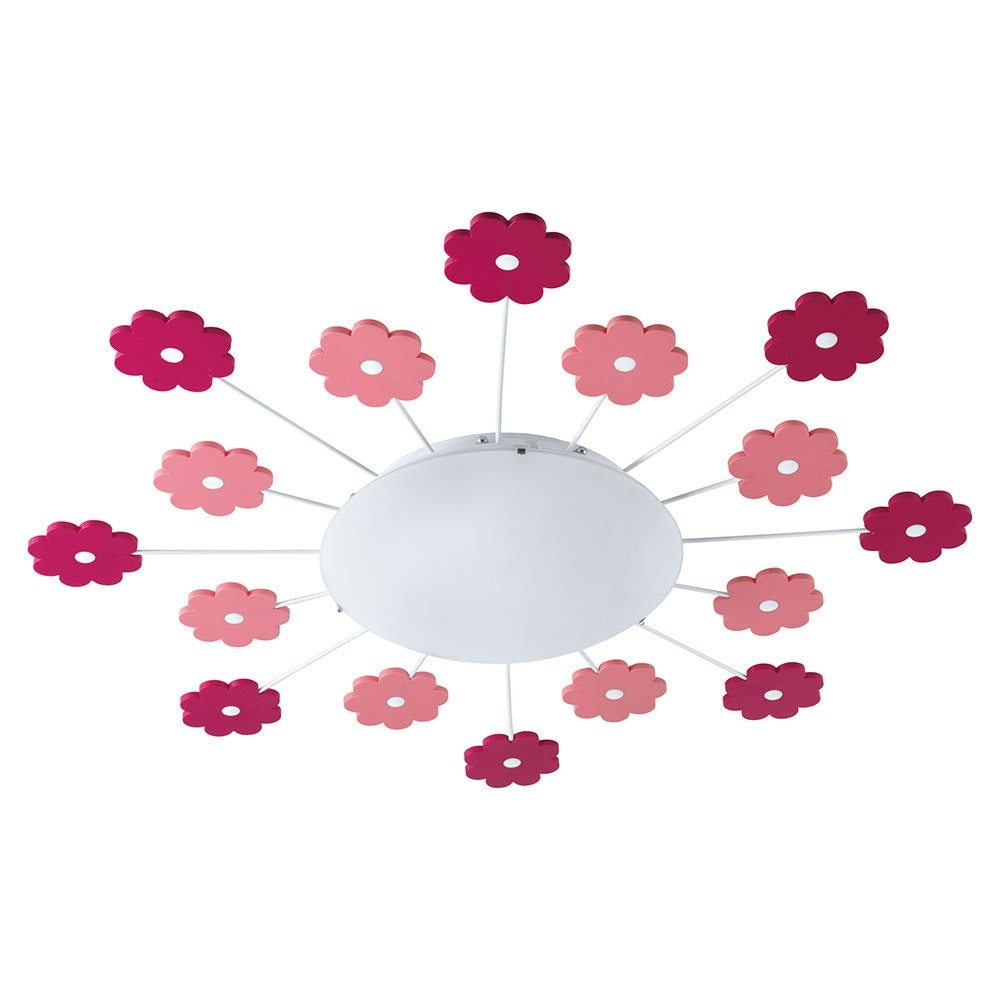 Viki 1 Wand- & Deckenleuchte Ø 61,5cm Weiß, Pink 2