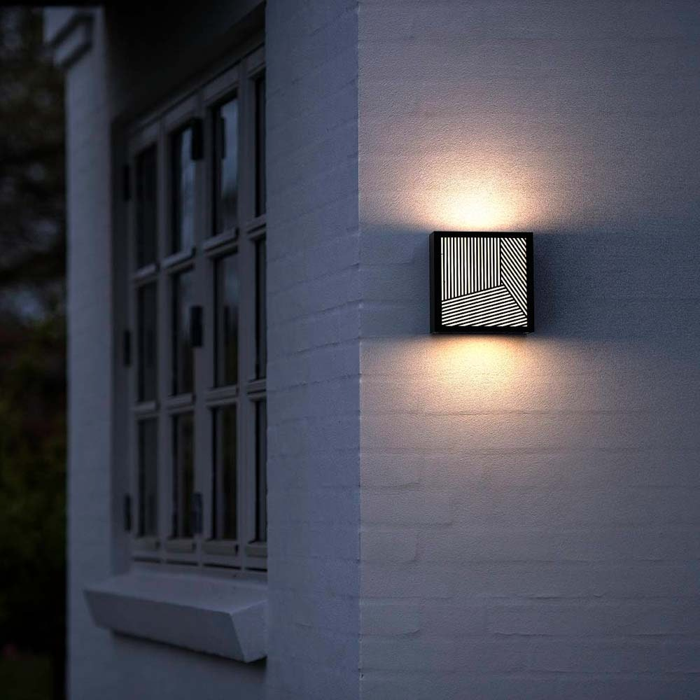 Design for the People LED Aussen-Wandlampe Maze Straight IP44 Schwarz, Opal Weiß 4