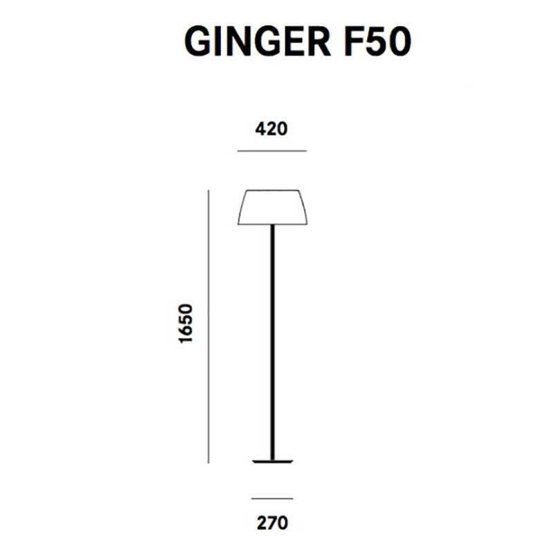 Prandina elegante Stehleuchte Ginger F50 Weiß 2
