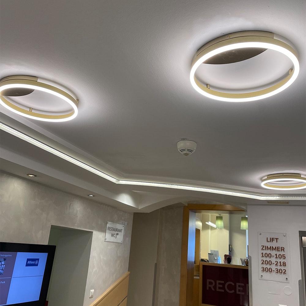 s.LUCE Ring 40 LED Decken & Wandlampe Dimmbar 11