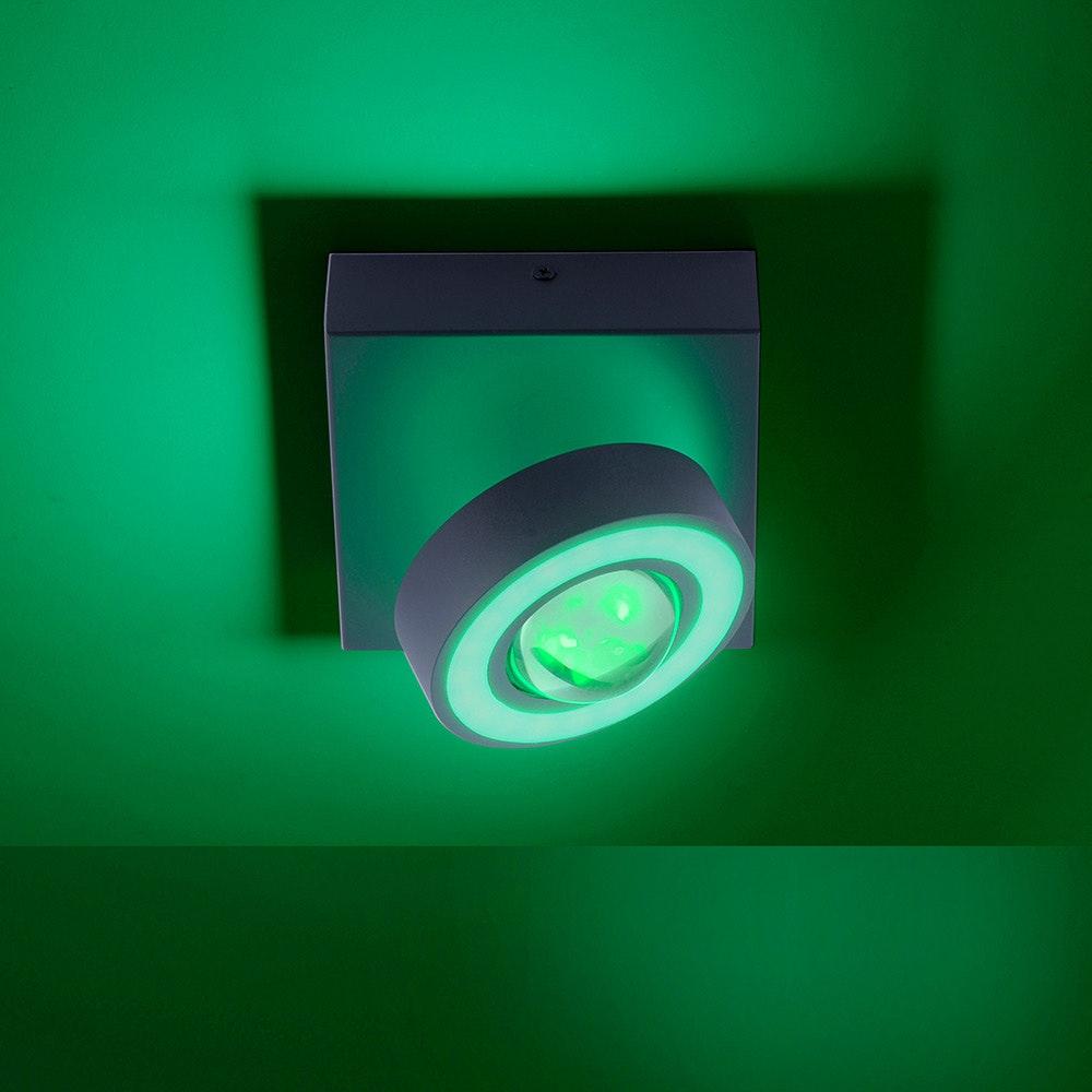 LED Deckenleuchte Q-Mia RGB+CCT Silberfarben 2