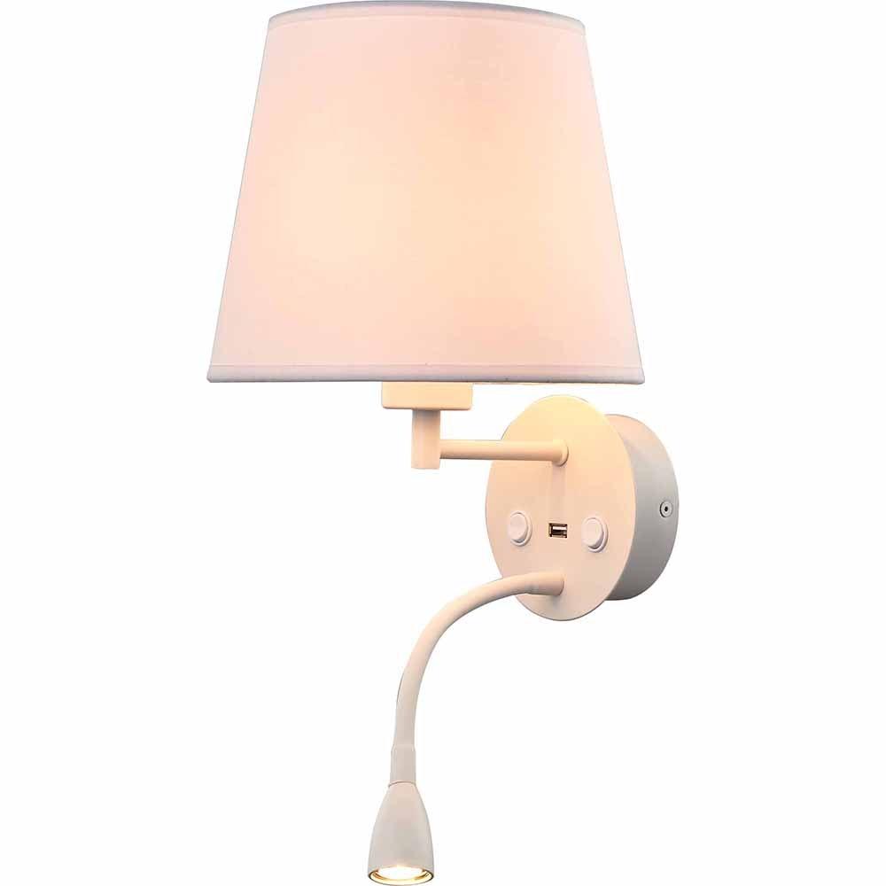 Mantra Caicos Wandleuchte + LED-Lesespot + USB-Anschluss 2