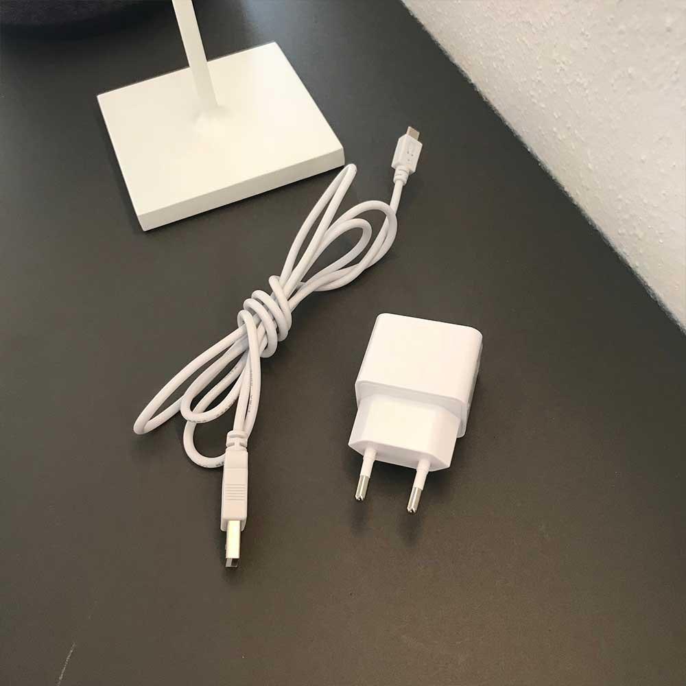 LED Tisch-Akkuleuchte Qutarg für Außen IP54 Dimmbar Braun 11