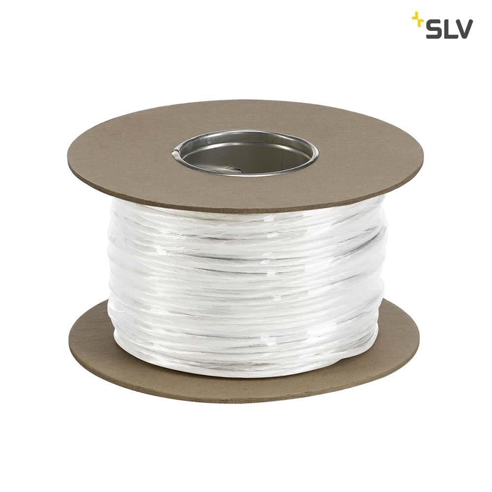 SLV 12V-Seil für Tenseo 12V-Seilsystem Weiß 4mm² 100m
