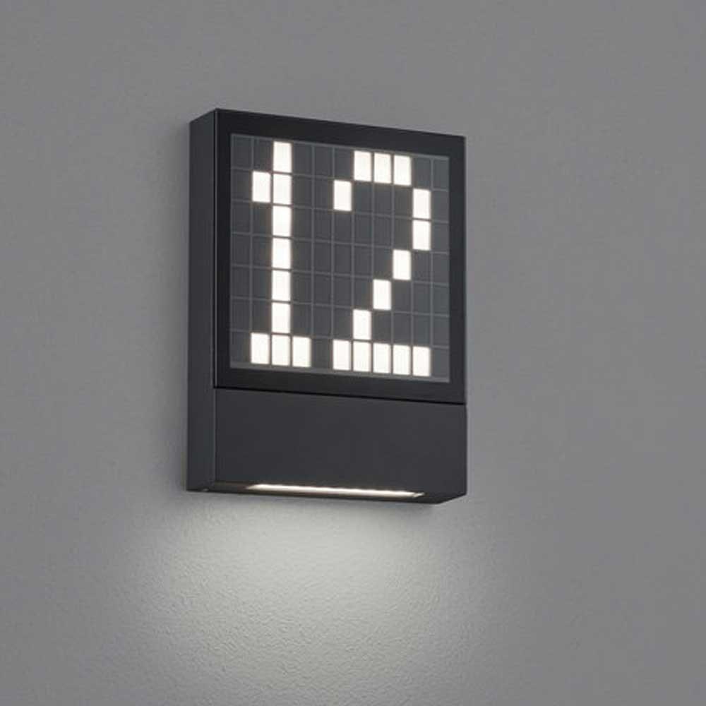 LED Außen-Wandleuchte Dial Hausnummernleuchte Anthrazit 2