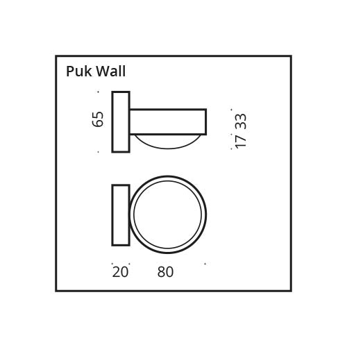Top Light LED Wandleuchte Puk Wall 25