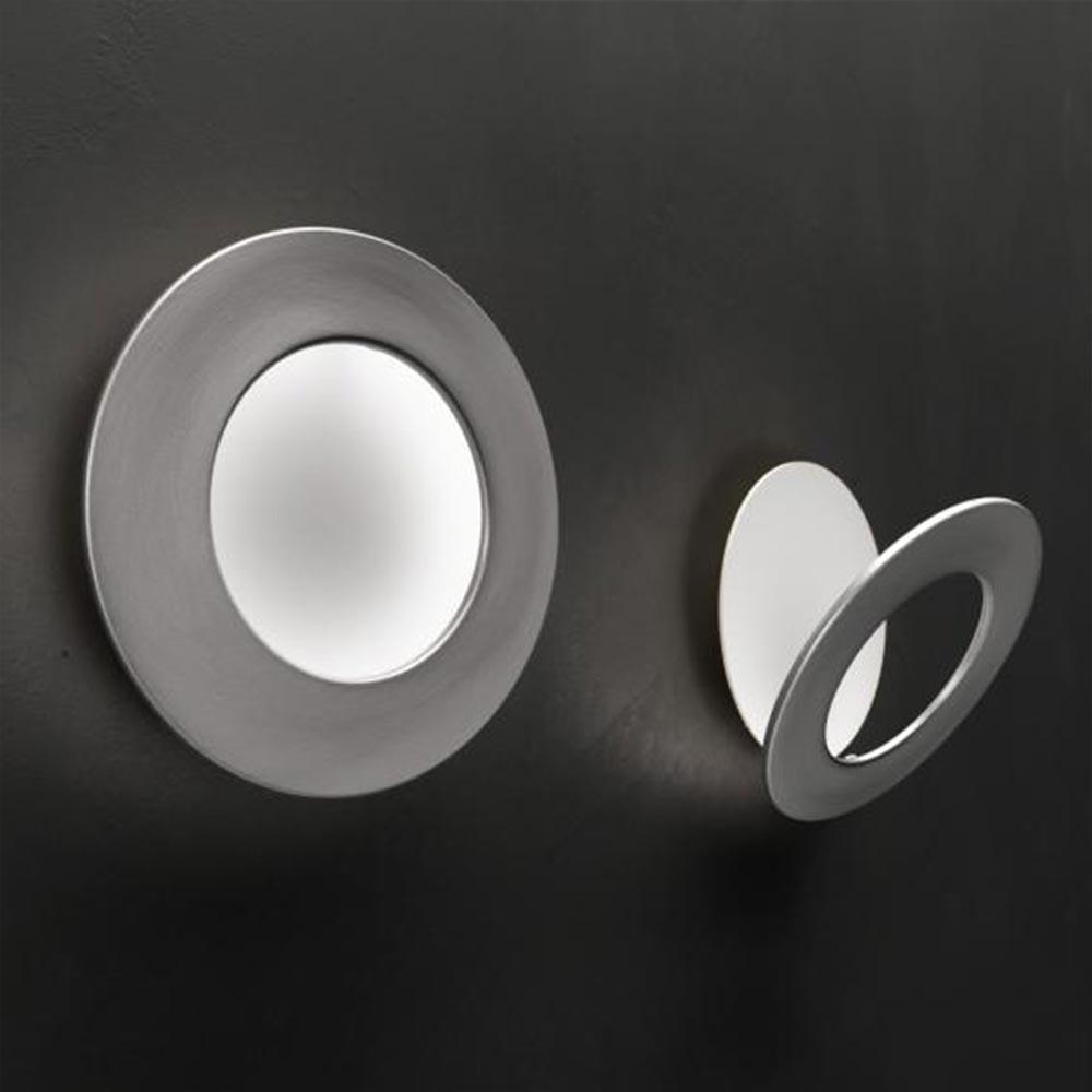 Icone LED Wandleuchte Vera Ø 26cm Weiß, Alu-Gebürstet
