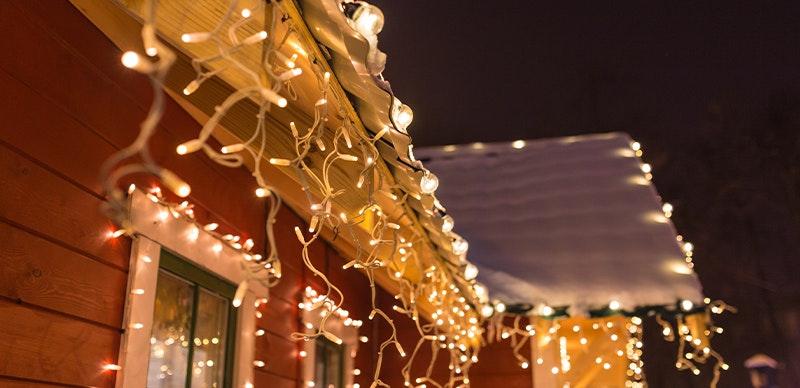 Weihnachtsmarkt Lichterketten für Außenbereiche
