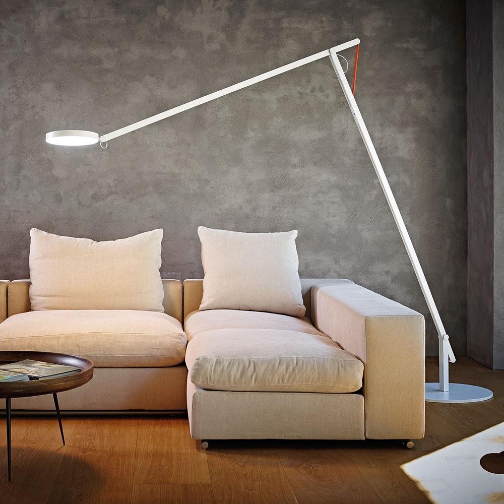 String XL LED-Stehleuchte mit Dimmer Schwarz-Orange 2