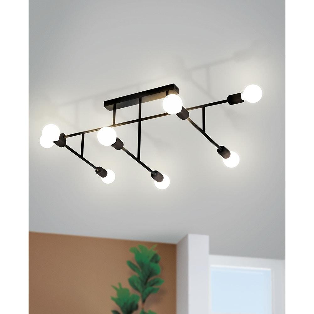 Licht-Trend Vintage Deckenlampe Teresina 8-flg. Schwarz 1