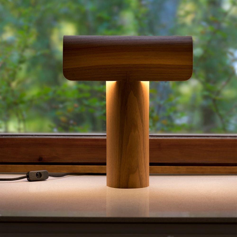 Tischleuchte Teelo 8020 aus Holz 38cm 5
