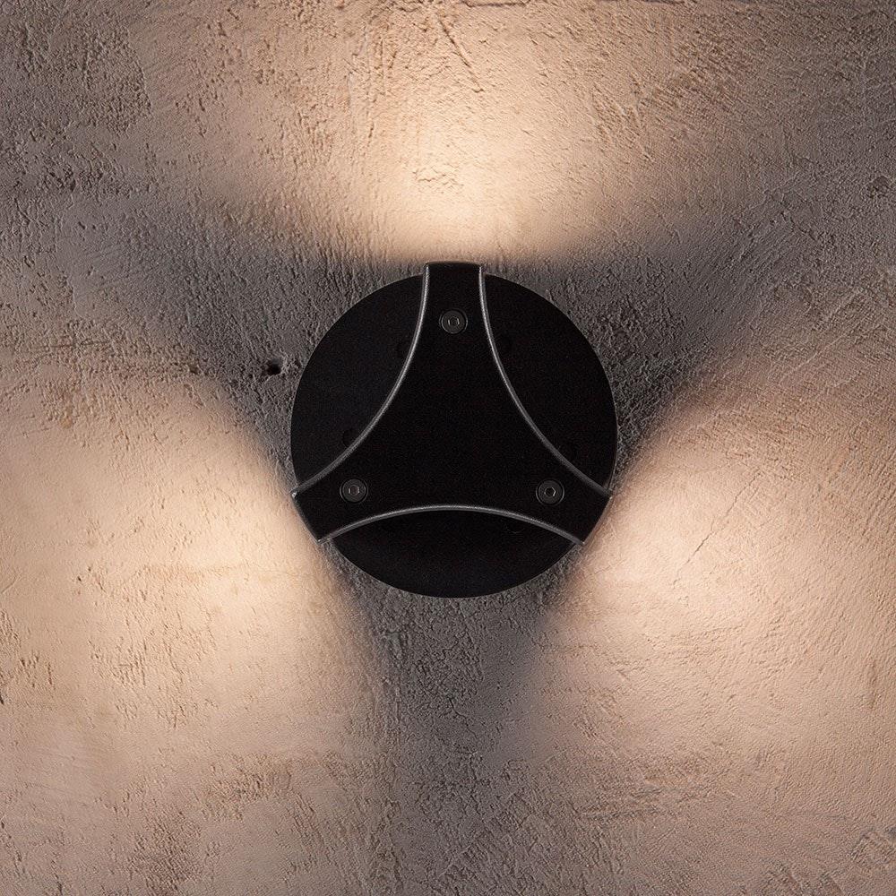 Design for the People Titus LED Aussen-Wandleuchte IP54 500lm Schwarz 2