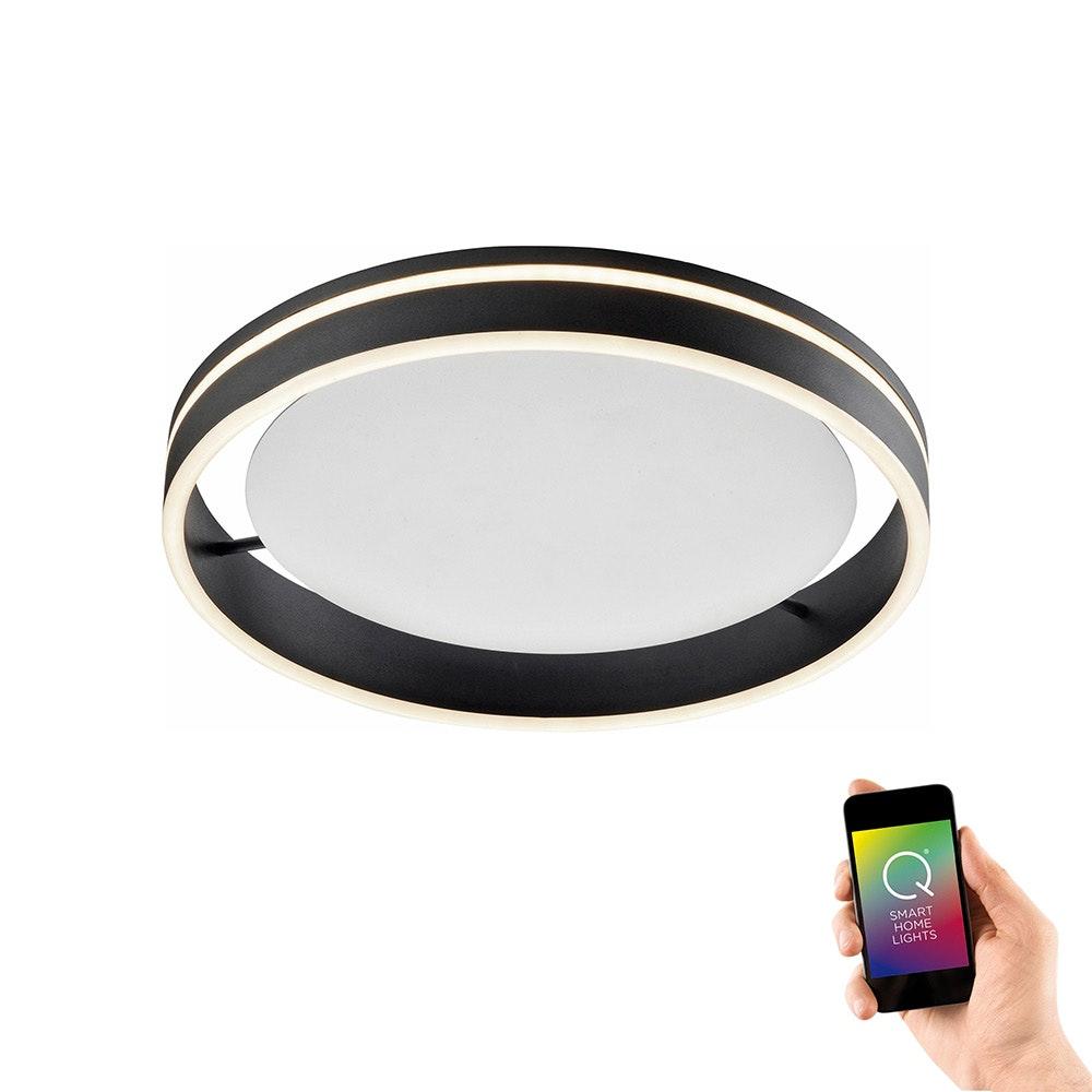 LED Deckenleuchte Q-Vito Ø 40cm CCT Anthrazit 1