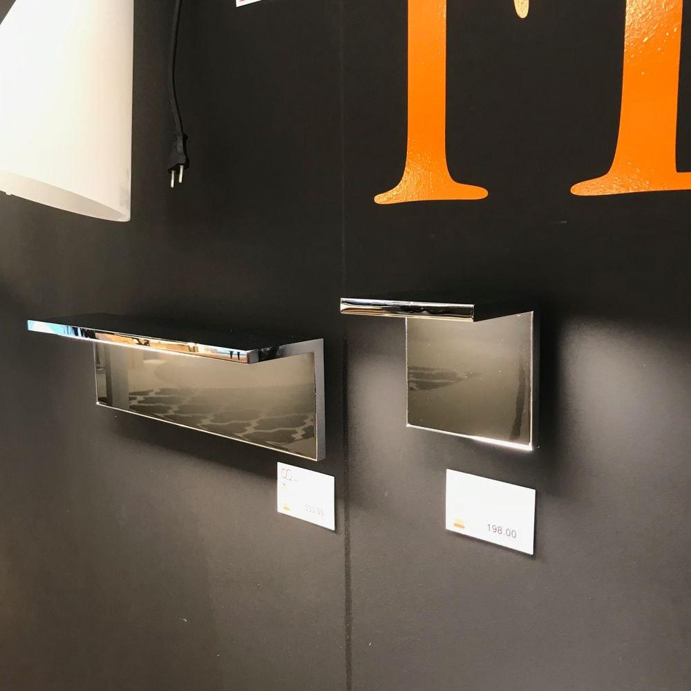 FLOS Hide L LED-Wandleuchte 40 x 12cm Chrom