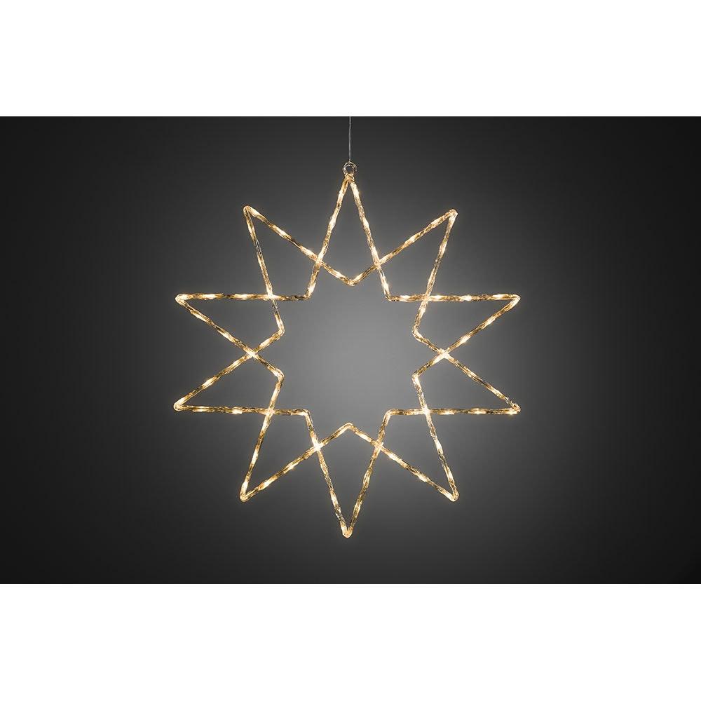 LED Acryl Stern 10 Zacken 120 Warmweiße Dioden IP44 2