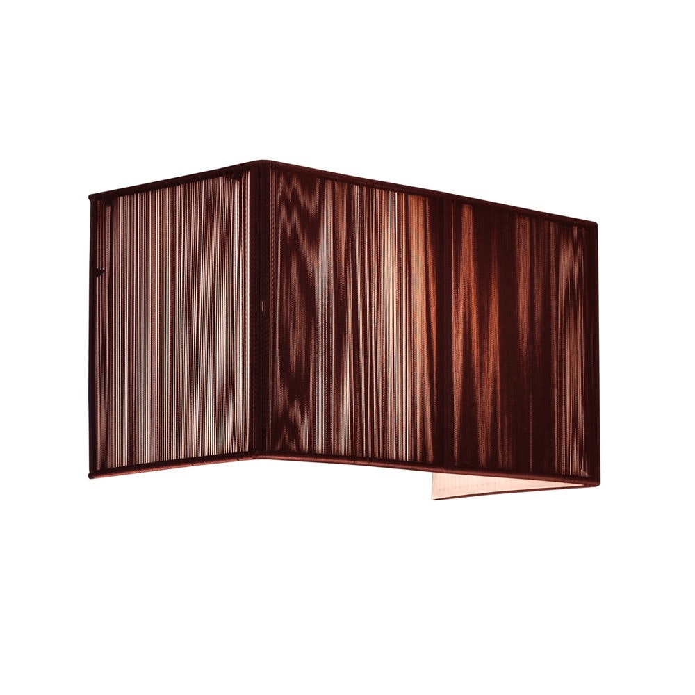 s.LUCE Twine Stoff-Wandleuchte 30cm Braun 2