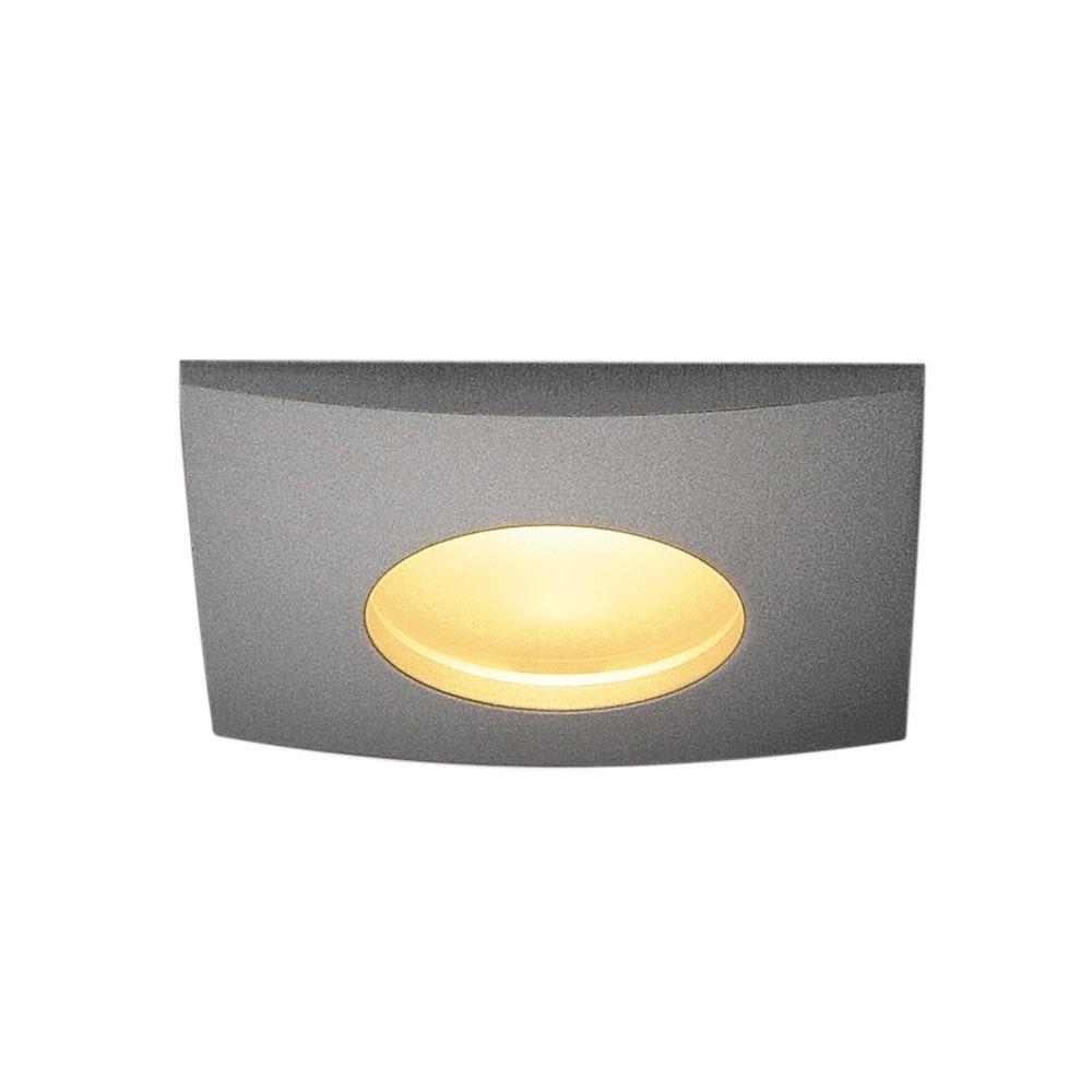 SLV OUT 65 LED DL Square Set Downlight Silbergrau 9W 38° 3000K inkl. Treiber