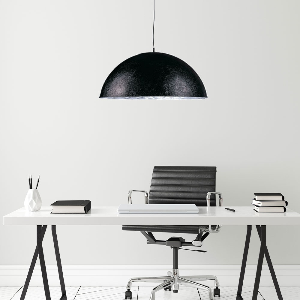 s.LUCE Blister Pendelleuchte 55cm Schwarz, Silberfarben