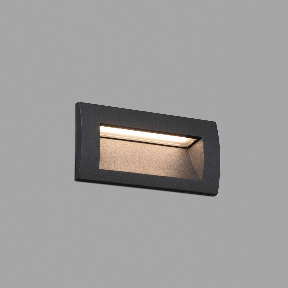 LED Außen-Wandeinbauleuchte SEDNA-2 IP65 Dunkelgrau 2
