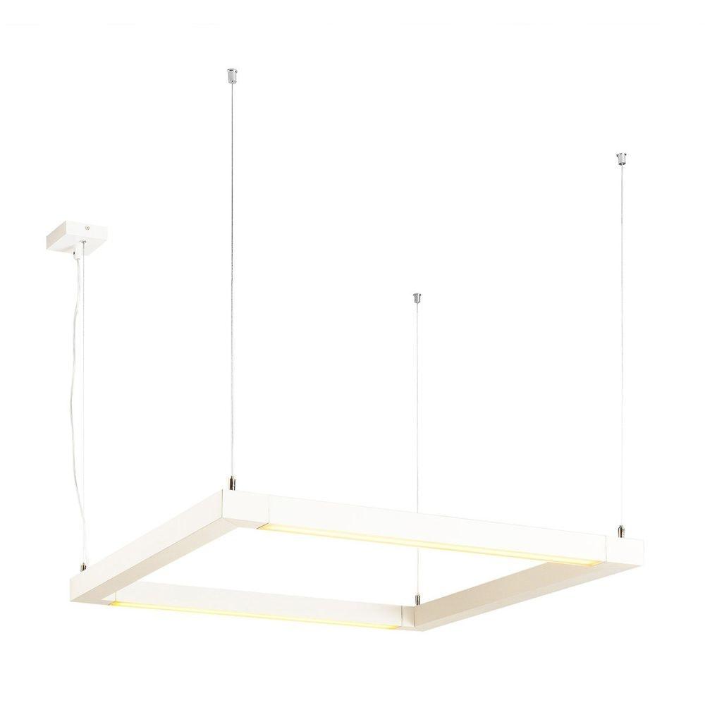 SLV Open Grill LED Double Twist Pendelleuchte eckig Weiß 2