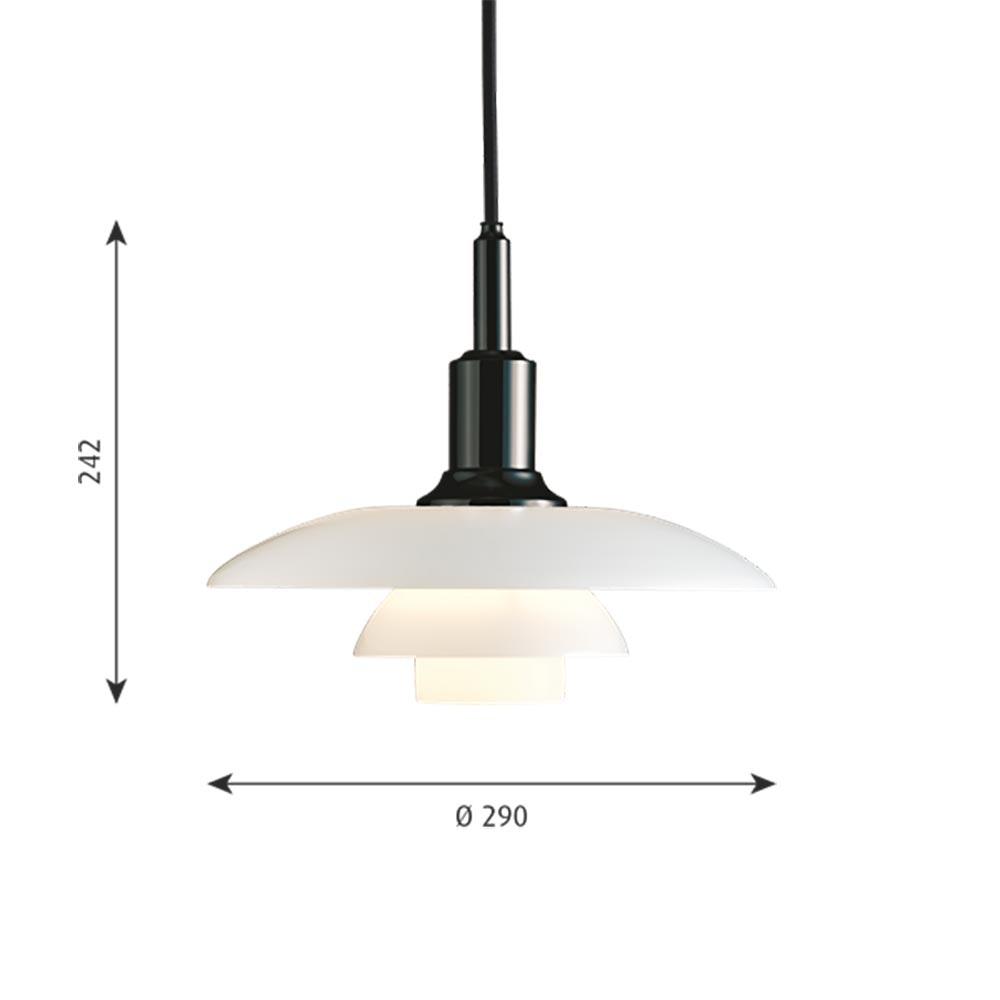 Louis Poulsen Hängelampe PH 3-2  Ø 29cm Opalglas thumbnail 4