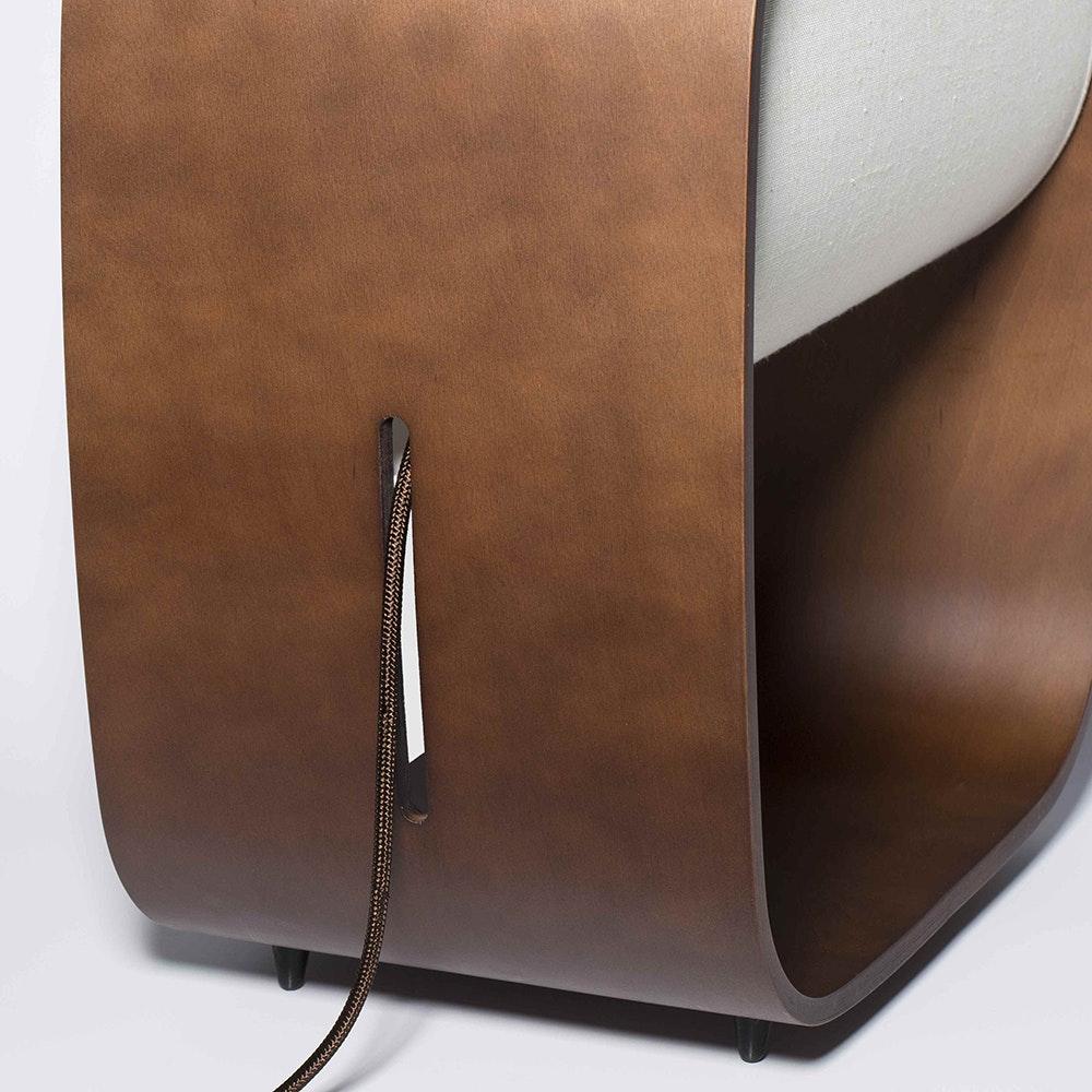 1968 Holz LED Tischlampe 3000K Dimmbar Braun 2
