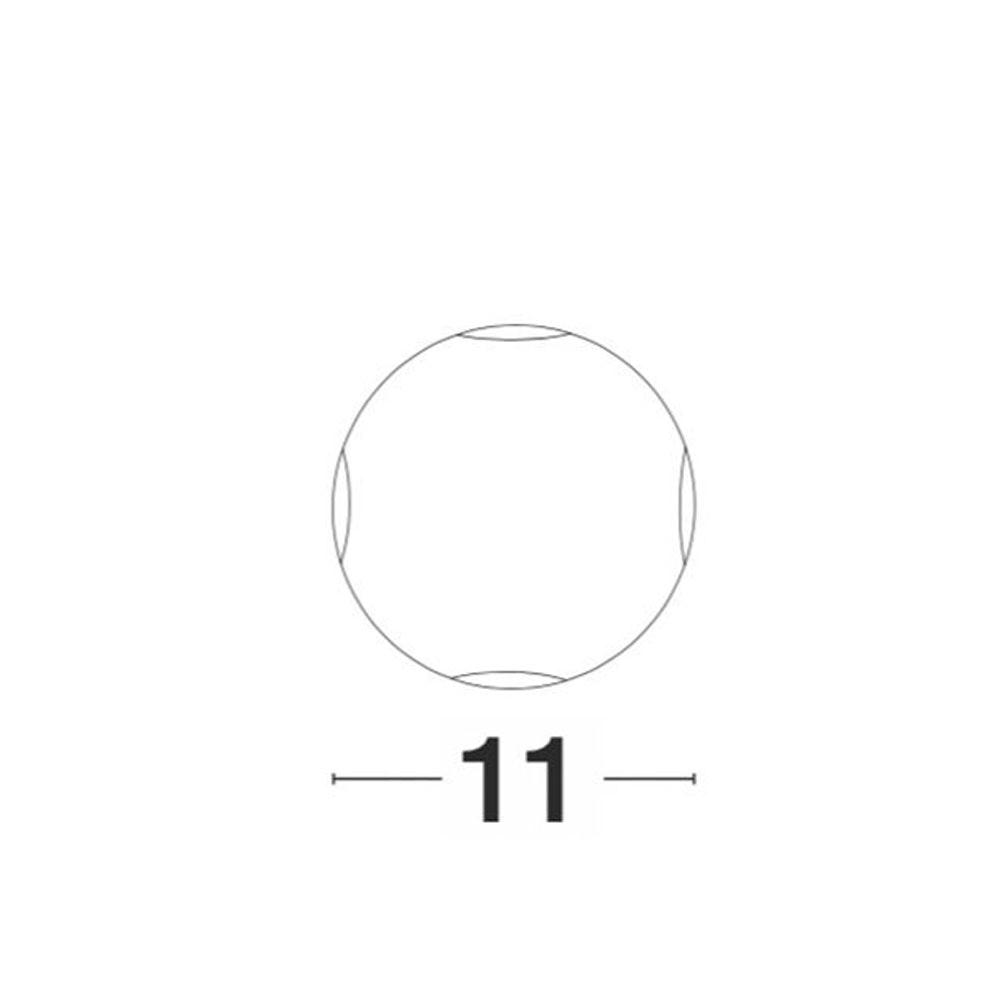 Nova Luce Zari Mini Wandleuchte 5cm Lichtstrahlen IP54 10