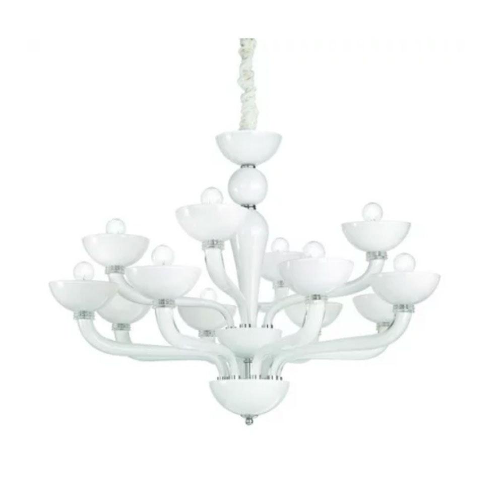 Ideal Lux Hängeleuchte Casanova Sp12 Weiß