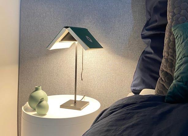 Innovative Nachttischlampe