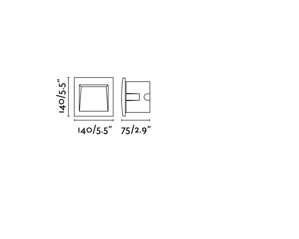 LED Wand-Einbauleuchte SEDNA-3 IP65 Dunkelgrau 2
