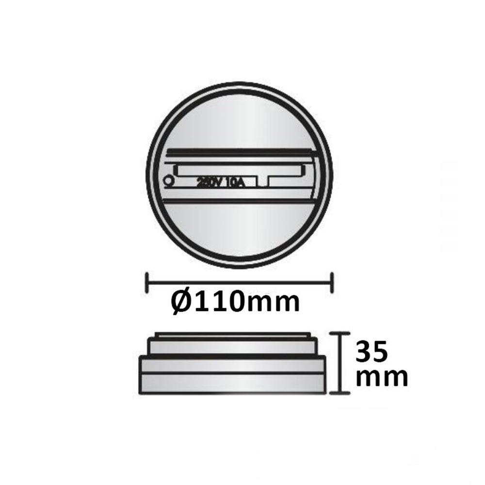 Aufbauadapter für 3-Phasen Schienenstrahler Weiß 1-Phase Ø 11cm 3