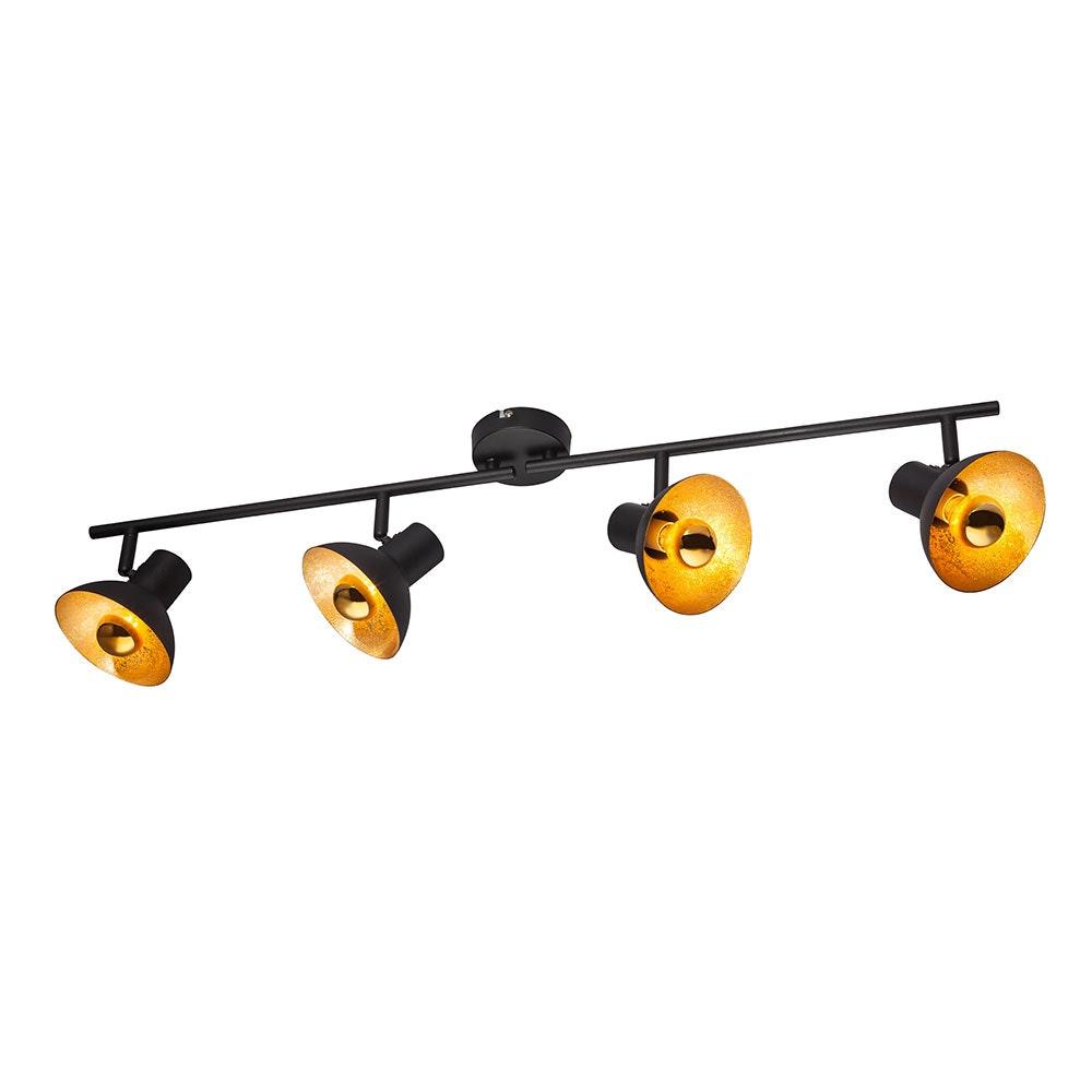 Licht-Trend LED Strahler Rondon 4-flg. beweglich Schwarz, Goldfarben 1