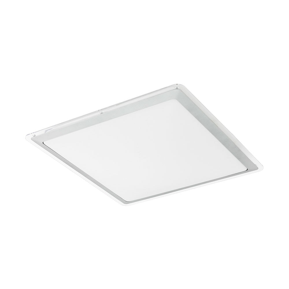 Competa 1 LED Deckenlampe 43x 43cm 2500lm Weiß, Silber, Klar
