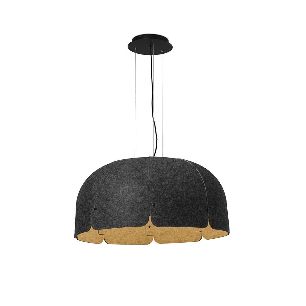 LED Büro-Hängeleuchte Mute Ø 80cm Schallabsorbierend 2