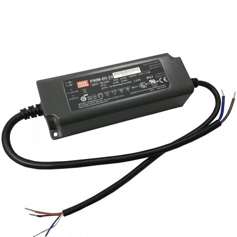 60W zertifiziertes Einbaunetzteil Dali Dimmbar 24V IP67