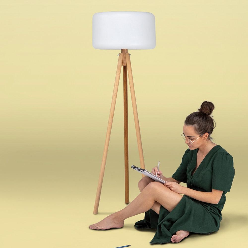 Licht-Trend Dreibein LED-Stehleuchte Chloe mit Akku und Fernbedienung 3